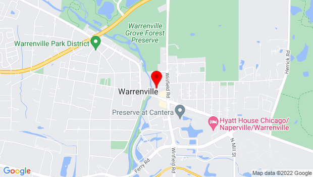 Google Map of 3S530 Second Street, Warrenville, IL 60555
