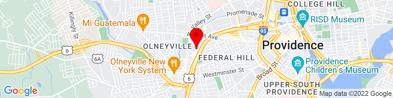 Google Map of 41.82155770000001, -71.43771439999999