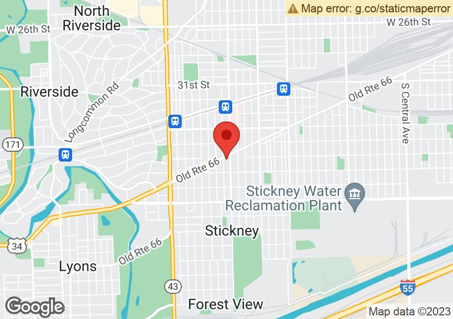 Google Map of 6800 OGDEN AVE
