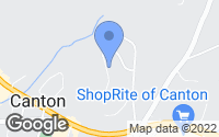 Map of Canton, CT