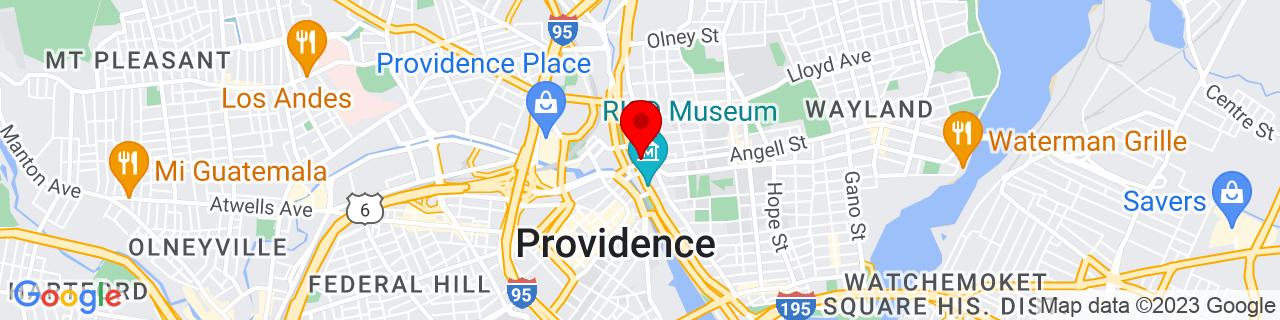 Google Map of 41.827739, -71.408664
