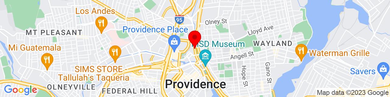 Google Map of 41.829861, -71.4110291