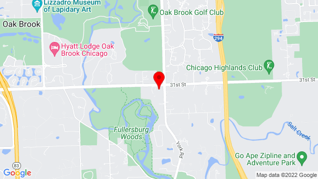 Google Map of 501 Oak Brook Rd, Oak Brook, IL 60523