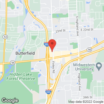 Map of Arby's at 2910 S Finley Rd, Downers Grove, IL 60515