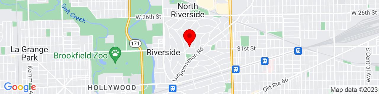 Google Map of 41.83621309999999, -87.81530029999999