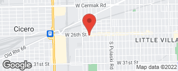 Map of 4344 W 26th St in Chicago