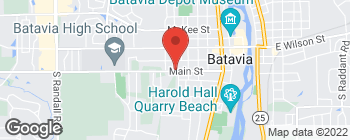 Map of 713 Main St in Batavia