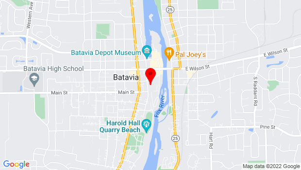 Google Map of 160 S. Water Street, Batavia, IL 60510