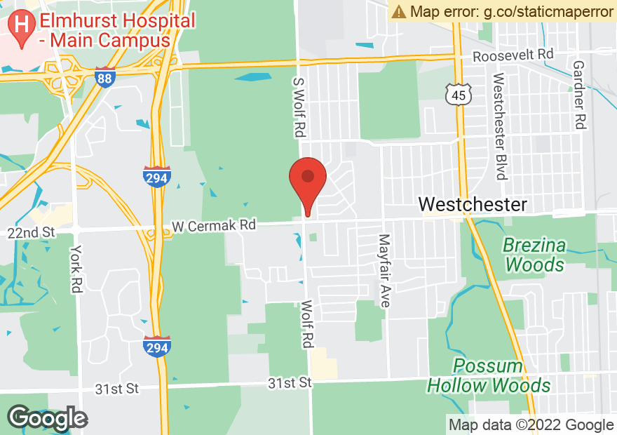 Google Map of 2151 S WOLF RD