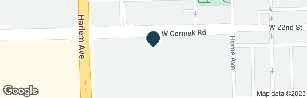 Google Map of7113 CERMAK RD