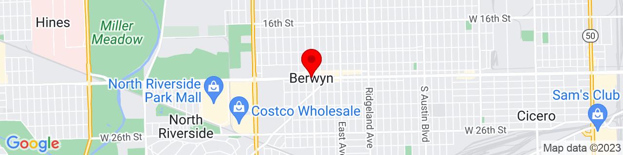 Google Map of 41.85059, -87.79367