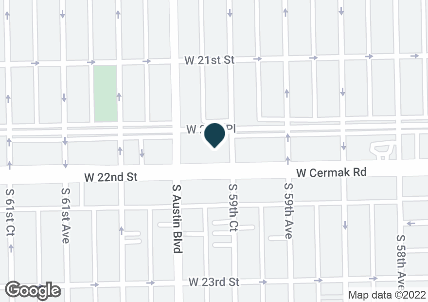 Google Map of5932 W CERMAK RD