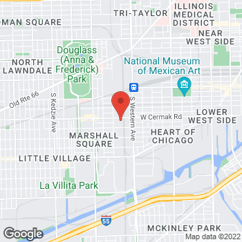 Map of Sprint at 2509 W Cermack Rd, Chicago, IL 60608