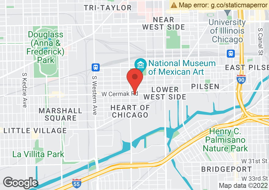 Google Map of 1931 W CERMAK RD