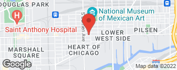 Map of 1916 W Cermak Rd in Chicago