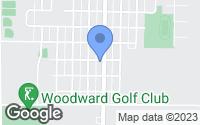 Map of Woodward, IA