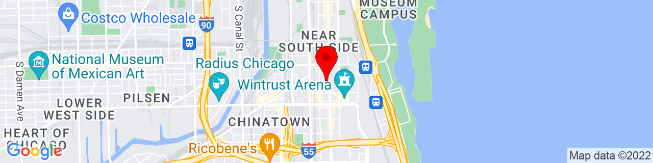 Google Map of 41.8557295, -87.6243688