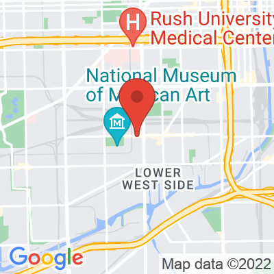 Map showing Brew Brew Coffee and Tea (Pilsen)