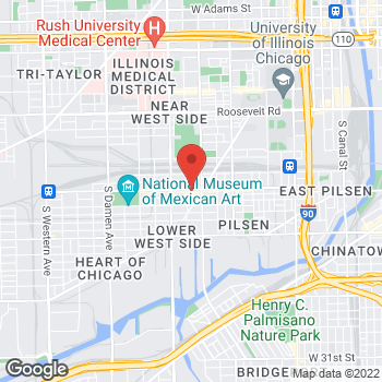 Map of Fifth Third Mortgage - Ivis Avilez at 1443 West 18th Street, Chicago, IL 60608