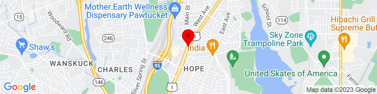 Google Map of 41.8579529, -71.3988428