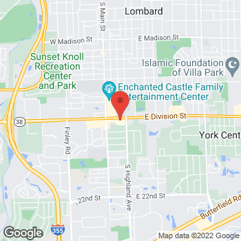 Map of Hair Cuttery at 213 East Roosevelt Road, Lombard, IL 60148