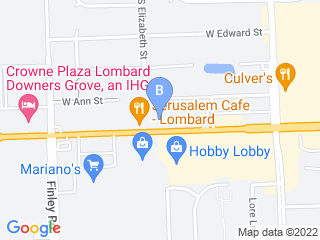 Map of Carriage Animal Clinic Dog Boarding options in Lombard | Boarding