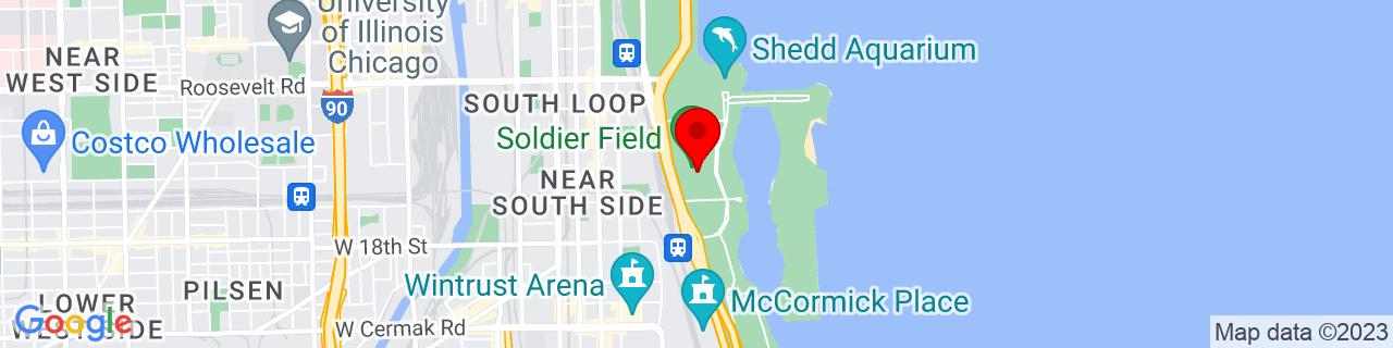 Google Map of 41.8619428, -87.6162394