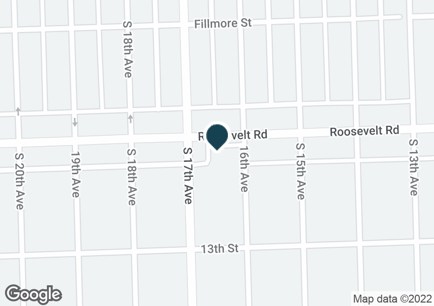 Google Map of1600 W ROOSEVELT RD
