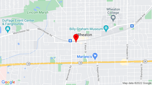 Google Map of 201 S. Wheaton Road, Wheaton, IL 60187