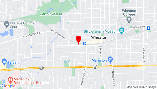 Google Map of 535. W. Liberty Drive, Wheaton, IL 60187