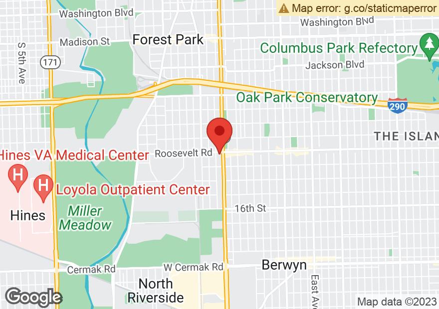 Google Map of 7200 ROOSEVELT RD