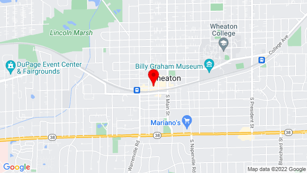 Google Map of 221 W. Front Street, Wheaton, IL 60187