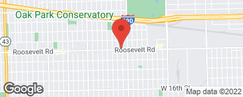 Map of 6030 Roosevelt Rd in Oak Park