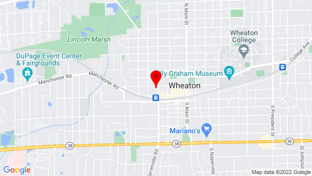 Google Map of 130 North West, Wheaton, IL 60187