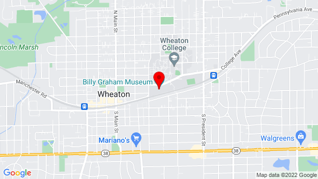 Google Map of 500 College Ave, Wheaton, IL 60187