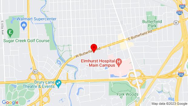 Google Map of 188 West Butterfield, Elmhurst, IL 60126