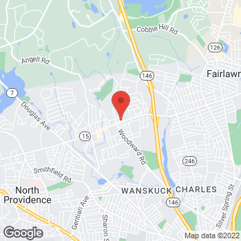 Map of Check `n Go Mineral Springs Ave at 1375 Mineral Spring Ave, North Providence, RI 02904