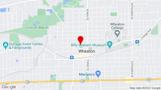Google Map of 208 W Union Ave, Wheaton, IL 60187