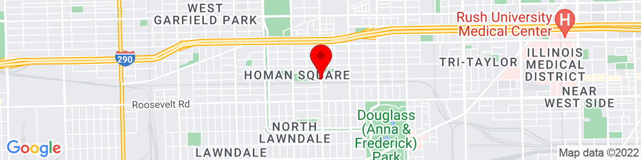 Google Map of 41.8691091, -87.71063939999999