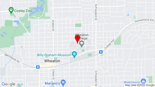 Google Map of 520 E. Kenilworth Ave, Wheaton, IL 60187