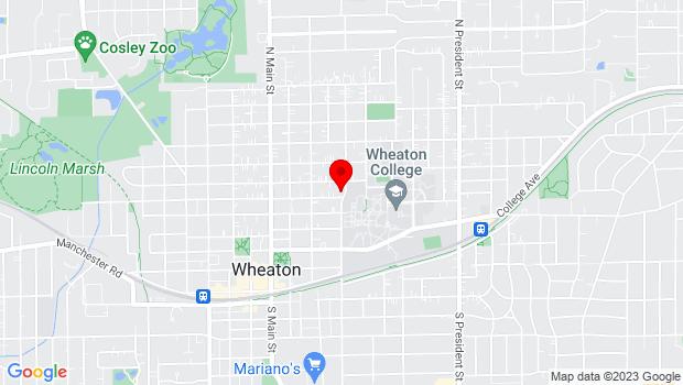 Google Map of 351 East Lincoln, Wheaton, IL 60187