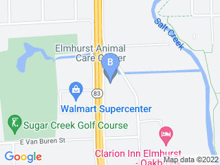 Map of Elmhurst Animal Care Center Dog Boarding options in Elmhurst | Boarding