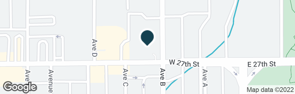 Google Map of205 W 27TH ST