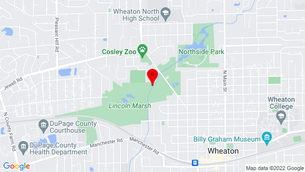 Google Map of Wheaton, IL 60187