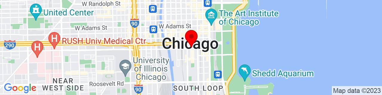 Google Map of 41.874769, -87.62948190000002