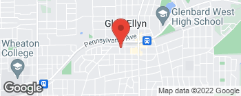 Map of 435 Melrose Ave in Glen Ellyn
