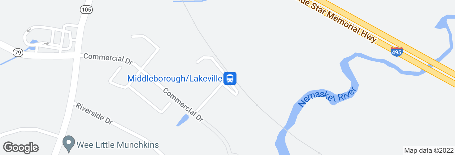 Map of Middleborough/Lakeville and surrounding area