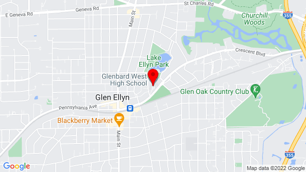 Google Map of 670 Crescent Blvd., Glen Ellyn, IL 60137