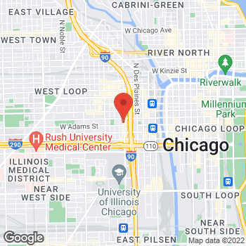Map of Hair Cuttery - Closed at 120 South Halsted Street Suite C, Chicago, IL 60661