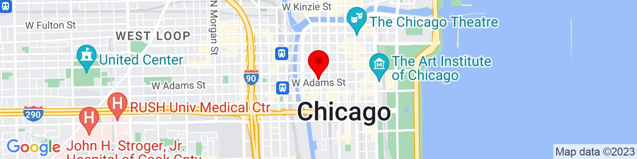 Google Map of 41.8797455, -87.6341467